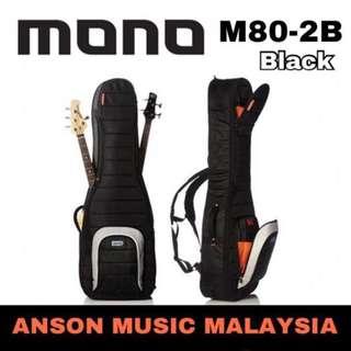 Mono M80-2B Dual Bass Guitar Bag, Black