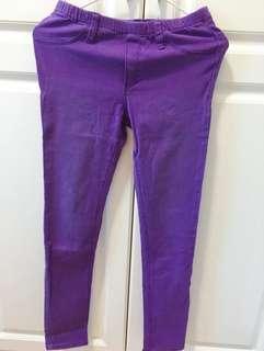 Leggings 貼身褲有後袋 M size 適合愛好紫色的你