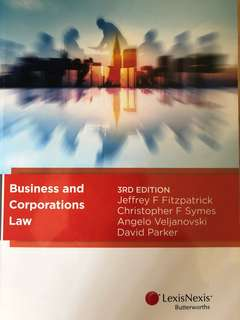 Business and corporations law (Australian laws) 2017