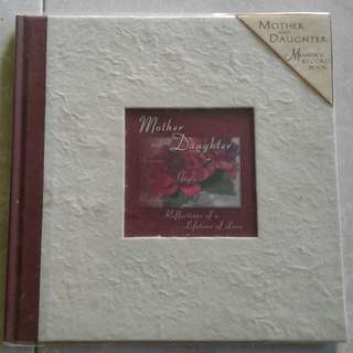 Mother & Daughter memory record book