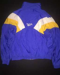 Vintage retro reebok windbreaker jacket