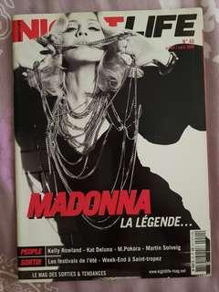 Madonna Night Life Magazine Elle Vanity fair Vogue