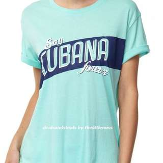 50%  OFF T-bar x Cotton On Mint Green Cubana Tee (M)