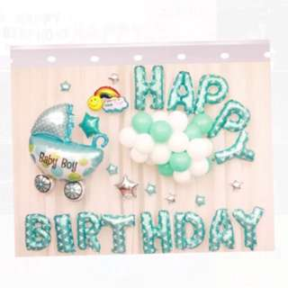 <In-stock> Happy Birthday Party decoration (blue)