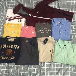 Ralph Lauren Abercrombie Fitch hollister shirts