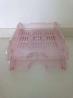 2 Tiers Pink Tray