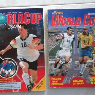World Cup Souvenir Special USA 94 and All Sport World Cup 98 each $2.50