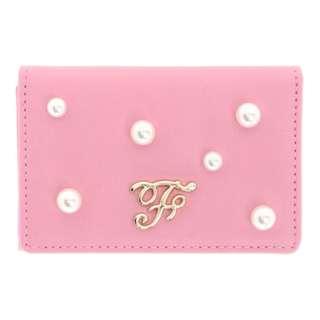 Maison de FLEUR Dark Pink Pearl Card Case