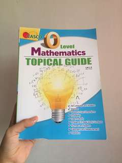 O Level Maths Topical Guide