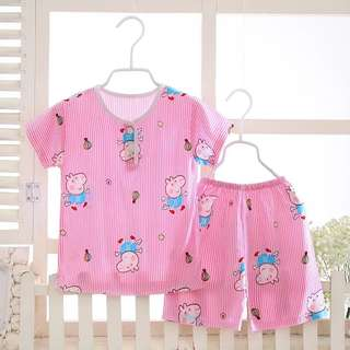 Peppa pig pyjamas short sleeves for 6yrs old girl and above