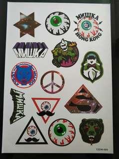 Mnwka stickerbomb the eyes