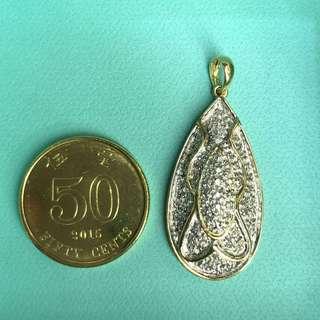 14K diamond pendant 鑽石吊墜