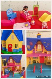Doc McStuffins doll house with figurines