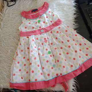 Periwinkle Polka Dress
