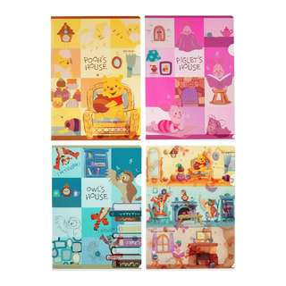 Disney Pooh & Friends Pooh's House A4 Clear File Set BNWT