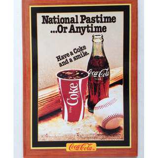 1995 Coca Cola Series 4 Base Card #307 - National Pastime