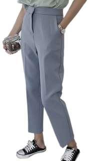 Korean style blue-gray pants