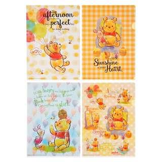 Disney Pooh & Piglet Honey A4 Clear File Set BNWT