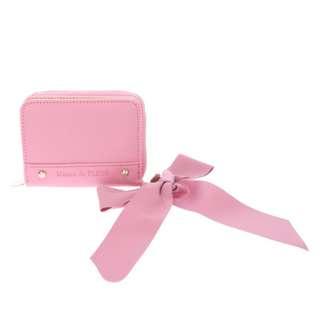 Maison de FLEUR Dark Pink Flap Mini Wallet