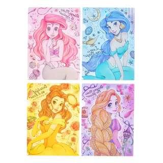 Disney Princess Letter Kira A4 Clear File Set BNWT