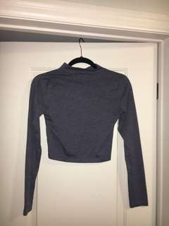 F21 Cropped Turtle Neck