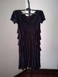 Little Cute Elegant Black Dress layered short sleeves colours