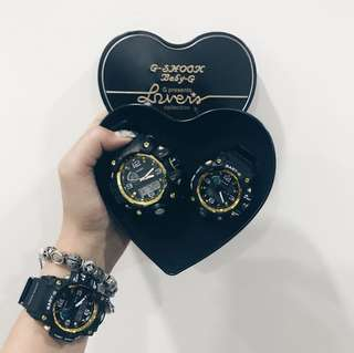 BNIB instock g-shock baby g gold black couple watch