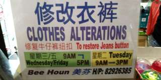 Clothes Alterations