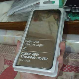Samsung galaxy s8 plus s8 + Clear view standing cover optimized viewing angle gold color original authentic brand new never been used samsung galaxy s plus series cheap
