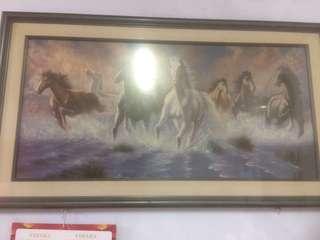 Lukisan kanvas gambar kuda