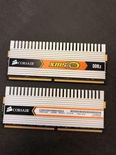 Corsair XMS2 DHX Dual path DDR2 ram 1GB x 2
