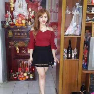 Red Fashion Atasan