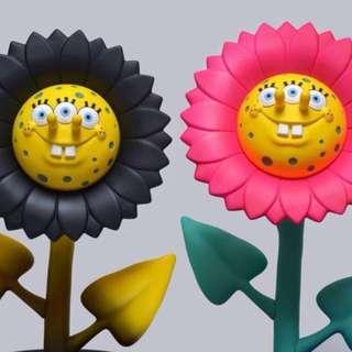 Ron English X APPortfolio X made by monster shocking pink dark force sun flower 海綿寶寶 vinyl figure toy