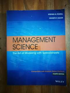 Management Science - The Art of Modelling with Spreadsheets