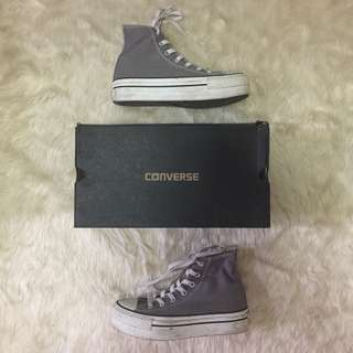 Authentic Grey Converse Size 7 (thick sole)