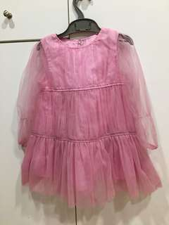 BN Pink Babydoll Dress for 2yrs old girl and above