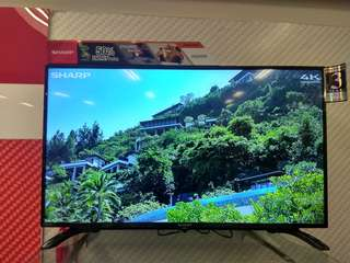 "Sharp Aquos Flat LED Digital TV 40"" Promo Free 1X angsuran"