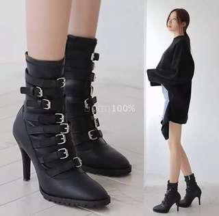 🚚 韓國個性扣帶靴