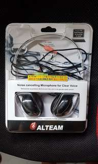 🚚 ALTEAM電腦用頭戴式雙插頭耳麥AH-306M