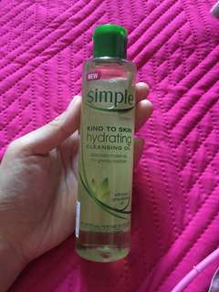 Simple oil cleanser