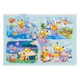 Pokemon Lapras & Pikachu Travelling Collection Tissue A4 Clear File