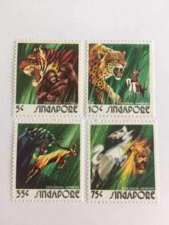 Singapore 1973 animal series mnh