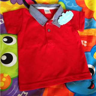 SALE! Cute Crib Couture  Baby Boy Poloshirt in Red