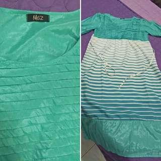 Pre Loved Green Preggy Dress