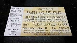 (2004年) 美女與野獸冰上表演-入場票尾