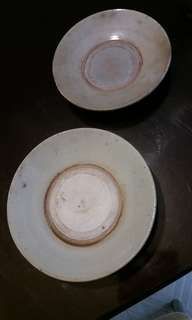 民初 陶器 泥碟两只