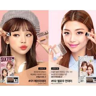 有新推出顏色!!!!預訂韓國 16 Brand 雙色漸變眼影