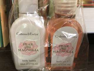 Crabtree & Evelyn - body wash and body lotion 50 ml each. Brand new.