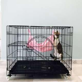 Cat 1-Tier Cage with Hammock + Tray (Unused)