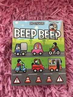 210 Mini Stickers <Beep Beep!>